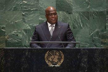 Félix Antoine Tshilombo Tshisekedi, Président de la République démocratique du Congo, s'adresse à la 74ème session du débat général de l'Assemblée générale des Nations Unies. (26 septembre 2019)