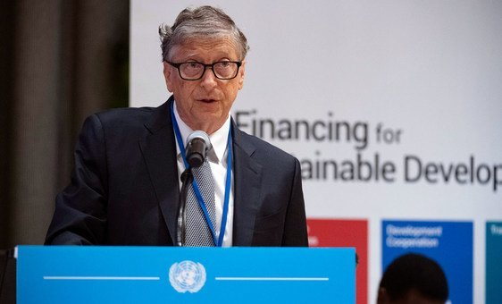 Bill Gates, Co-chair of the Bill & Melinda Gates Foundation, addresses the High-level Dialogue on Financing for Development summit taking place at UN Headquarters in New York. (26 September 2019)