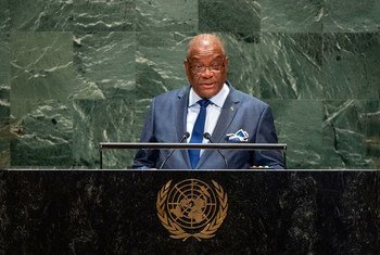 Presidente de São Tomé e Príncipe,Evaristo do Espirito Santo Carvalho, discursa na Assembleia Geral