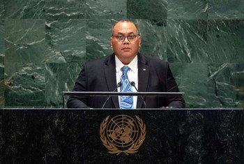 Lionel Rouwen Aingimea, President of the Republic of Nauru, addresses the 74th session of the United Nations General Assembly's General Debate. (26 September 2019)