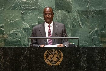 Taban Deng Gai, First Vice President of the Republic of South Sudan, addresses the 74th session of the United Nations General Assembly's General Debate. (26 September 2019)