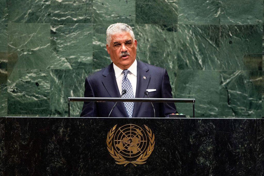 Miguel Vargas Maldonado, mientro de Relaciones Exteriores de la República Dominicana, durante su intervención en el 74º periodo de sesiones de la Asamblea General.
