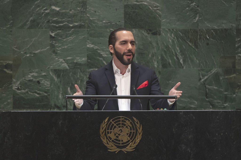 Nayib Armando Bukele, presidente de El Salvador, en su intervención al 74º periodo de sesiones de la Asamblea General.