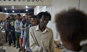 Arrivée de réfugiés au Rwanda.