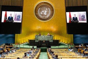 سعد الدين العثماني، رئيس حكومة المملكة المغربية، يلقي كلمة في المناقشة العامة للدورة الخامسة والسبعين للجمعية العامة.