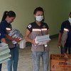 Volunteers at work in the quarantine facility on the Thai border with Myanmar.
