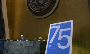 The 75th anniversary of the United Nations is marked by a ceremony in the UN General Assembly.