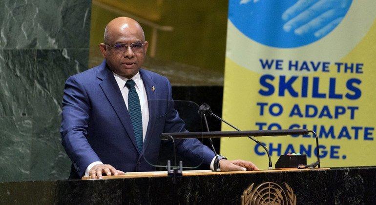 presidente da Assembleia Geral e anfitrião do evento, Abdulla Shahid, reforçou que as mudanças no clima são a principal ameaça global