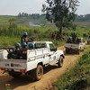 Des Casques bleus de la Mission des Nations Unies en République démocratique du Congo (MONUSCO) patrouillent sur le territoire d'Irumu, dans l'Ituri (photo d'archives).