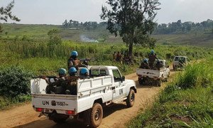 Peacekeepers from the UN Organization Stabilization Mission in the Democratic Republic of the Congo (MONUSCO) on patrol in Irumu Territory, Ituri, to deter ADF activities (file photo).