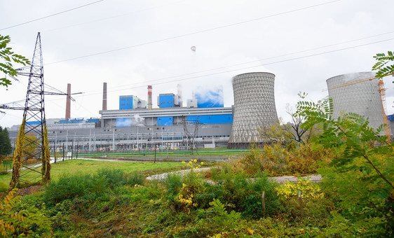 A coal power plant in Tuzla, Bosnia.