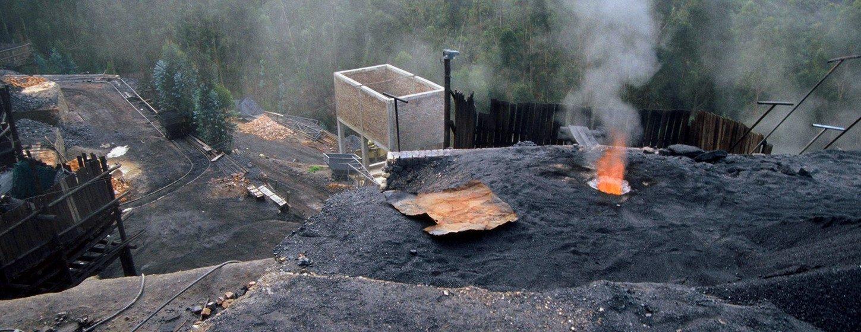 Coal mines outside of Samaca, Colombia.