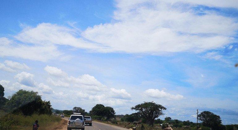 Road in Tete, Mozambique