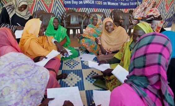ورشة عمل حول المرأة والسلام والأمن في شمال دارفور، السودان نظمتها بعثة الأمم المتحدة المشتركة هناك.