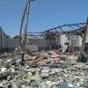 Вот так выглядел временный центр содержания мигрантов возле Триполи после воздушного удара 2 июля 2019 года. Тогда погибли более 50 человек.