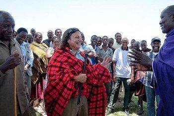 世界粮食计划署坦桑尼亚国家代表莱根在最近访问