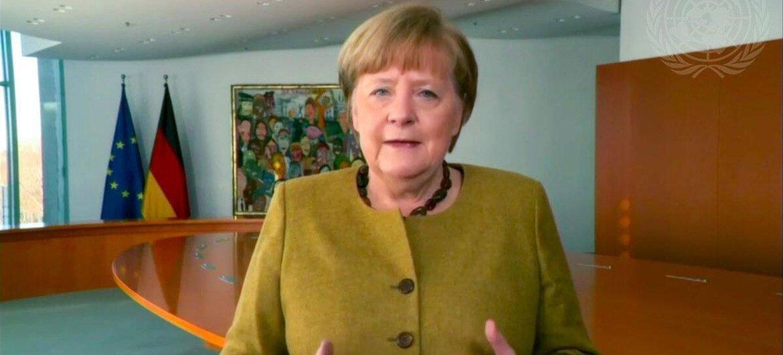 德国总理安格拉·默克尔在缅怀大屠杀遇难者国际纪念日的在线纪念仪式和讨论中发表了重要讲话。