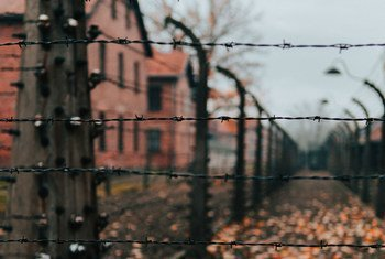 The former Auschwitz-Birkenau concentration camp in southern Poland.