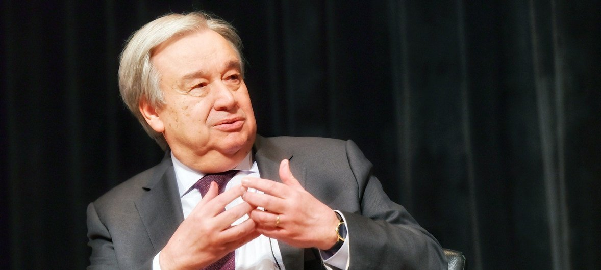 UN Secretary-General António Guterres explains his commitment to gender equality at The New School in New York.