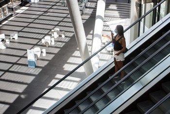 Un centro comercial en la Ciudad de México cuando todavía no se habían impuesto las medidas de confinamiento.