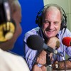 David Shearer, Special Representative of the Secretary-General for South Sudan is interviewed on Radio Miraya by Lighthouse International Primary School student, Ayot Sandra Dominic. (June 2017)