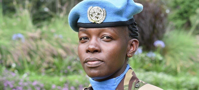 Queniana Steplyne Nyaboga é o Prêmio de Defensora Militar da Igualde de Gênero das Nações Unidas em 2020