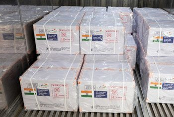 India's gift of COVID Vaccines to UN Peacekeeping departed from Mumbai Airport on Saturday.