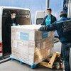 Une livraison d'équipements de protection par l'UNICEF pour des agents de santé en Moldavie qui affrontent la pandémie de Covid-19.