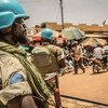 माली में संयुक्त राष्ट्र शान्तिरक्षक गश्त के दौरान.