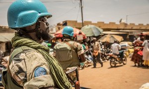 UN peacekeepers conduct foot and vehicle patrols in the centre of Mali.