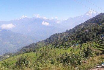 जुन्गू गाँव, डोलखा ज़िला, नेपाल.