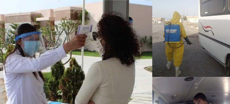 Medidas de prevención en el sector del turismo en Egipto.