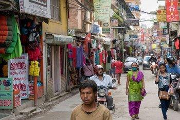 Eneo la kati la manunuzi ya bidhaa kwenye mji mkuu wa Nepal, Kathmandu