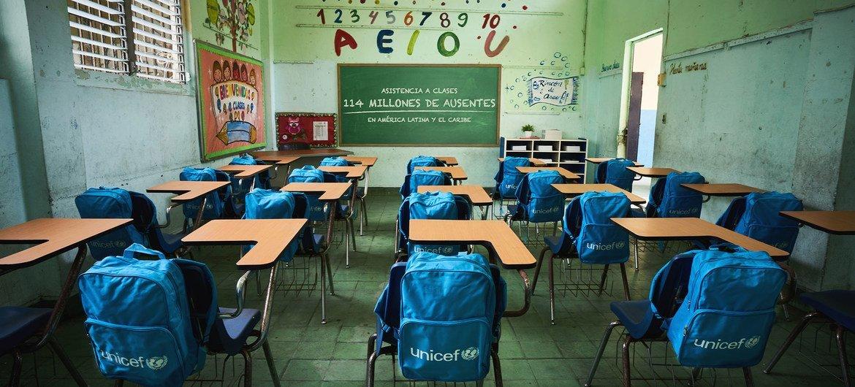 Unos 77 millones de estudiantes en seis países siguen sin poder ir a clase tras año y medio del inicio de la pandemia del coronavirus.