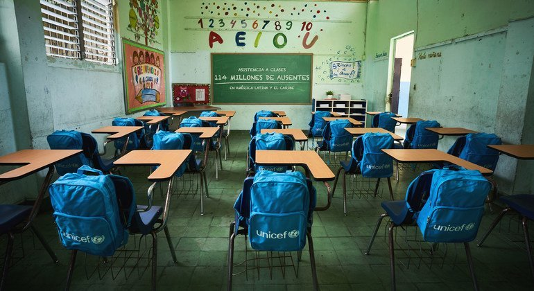 Around 117 million students, representing 7.5 per cent of the total, are still affected by complete school closures in 18 countries