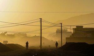 阿富汗首都喀布尔的清晨。
