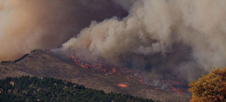 Incendio en Colorado, Estados Unidos