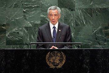 新加坡总理李显龙今天在联大第74届会议一般性辩论上发表演讲。