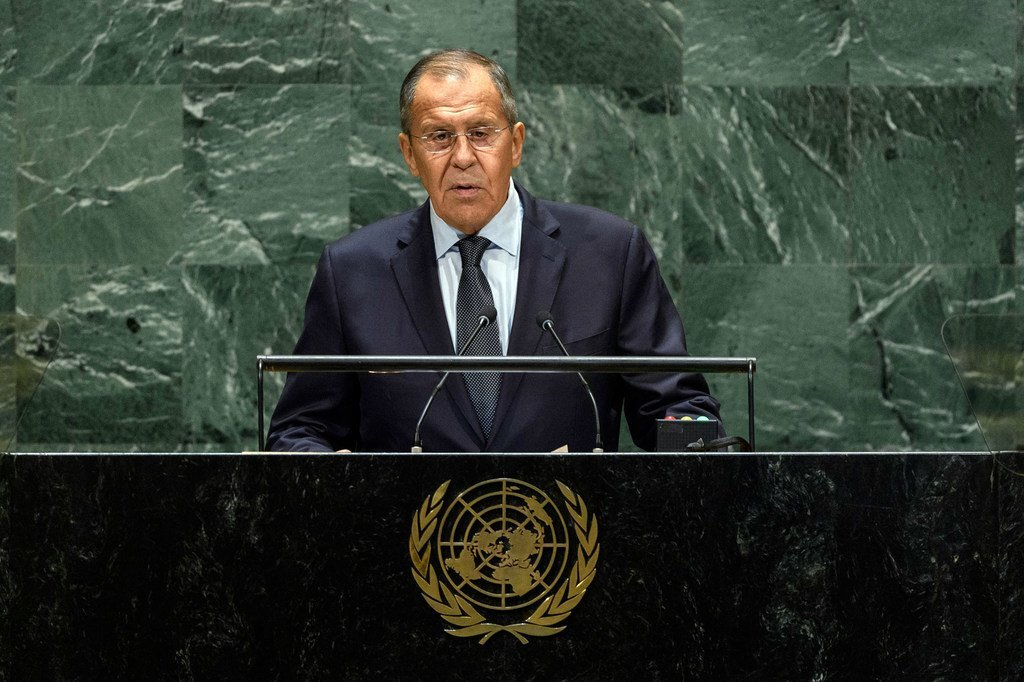 Sergey V. Lavrov, Waziri wa Mambo ya Nje wa Urusi akihutubia mjadala mkuu wa UNGA74 kwenye Baraza Kuu la UN 27 Septe 2019