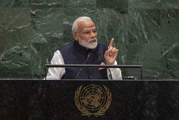 Narendra Modi, Prime Minister of India, addresses the general debate of the 74th session of the General Assembly.