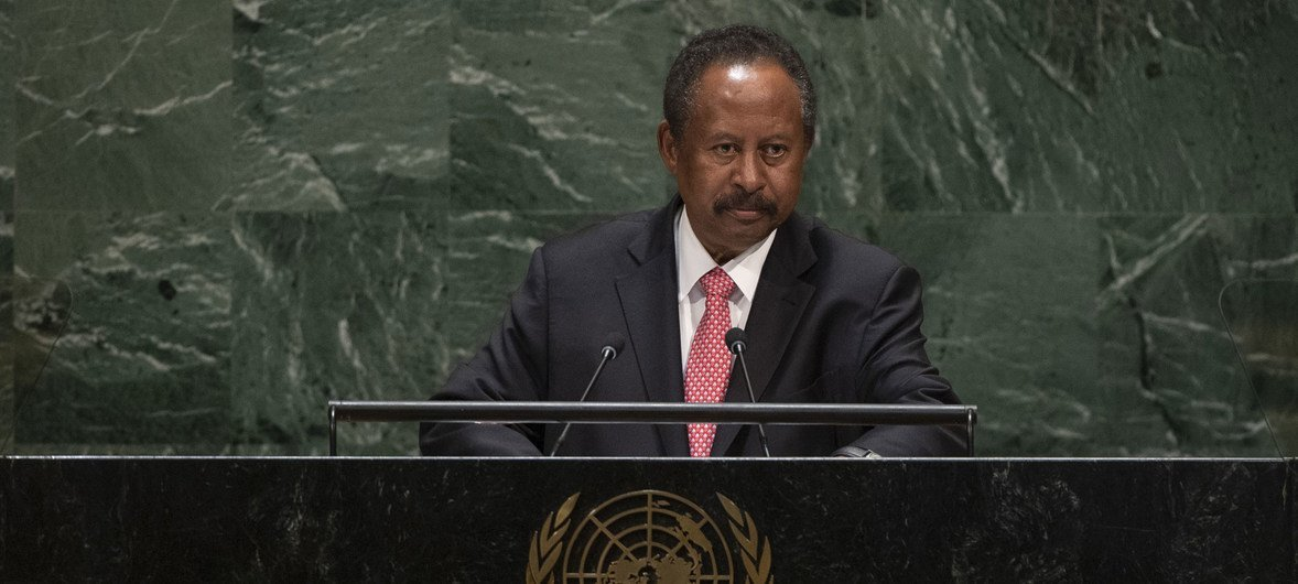 Abdalla Hamdok, Prime Minister of the Republic of the Sudan, addresses the general debate of the General Assembly's 74th session.