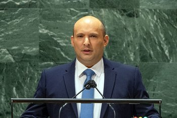 Prime Minister Naftali Bennett of the State of Israel addresses the general debate of the UN General Assembly's 76th session.