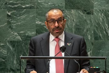 السيد خليفة شاهين المرر، وزير دولة في الإمارات العربية المتحدة، يلقي كلمة بلاده في المناقشة العامة للدورة الـ 76 للجمعية العامة للأمم المتحدة.