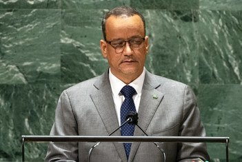 إسماعيل ولد الشيخ أحمد، وزير الشؤون الخارجية والتعاون الدولي في جمهورية موريتانيا الإسلامية يقدم خطاب بلاده في النقاش العام للدورة السادسة والسبعين للجمعية العامة.
