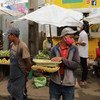 Vendors sell vegetables in a market in Antananarivo, the capital of Madagascar.