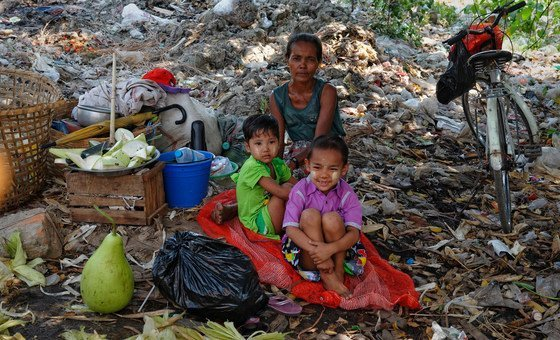 A homeless family in Yangon in Myanmar has few social support structures it can call on.
