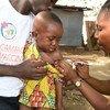 Une campagne de vaccination contre la méningite a lieu à Bouaké, dans le centre de la Côte d'Ivoire.