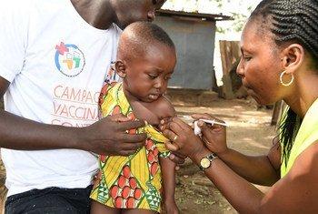 Kampeni ya chanjo ya uti wa mgongo inafanyika huko Bouaké, nchini Côte d'Ivoire