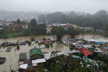 Daños causados por los huracanes Eta e Iota en la ciudad guatemalteca de San Pedro Carcha.