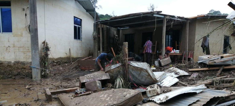 ARCHIVO: Daños causados por los huracanes Eta e Iota en la ciudad guatemalteca de San Pedro Carcha.
